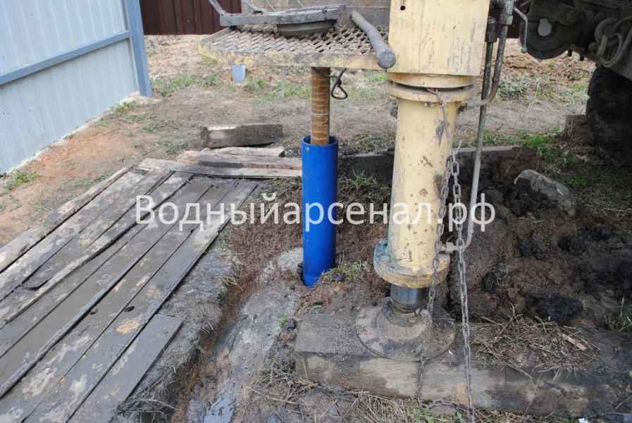 Бурение скважины в Домодедовском районе, микрорайон Востряково фото 4