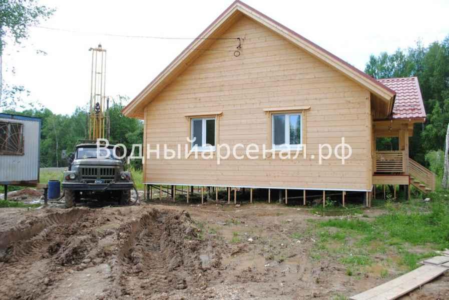 Бурение скважины в Сергиево-Посадском районе, деревня Путятино фото 1