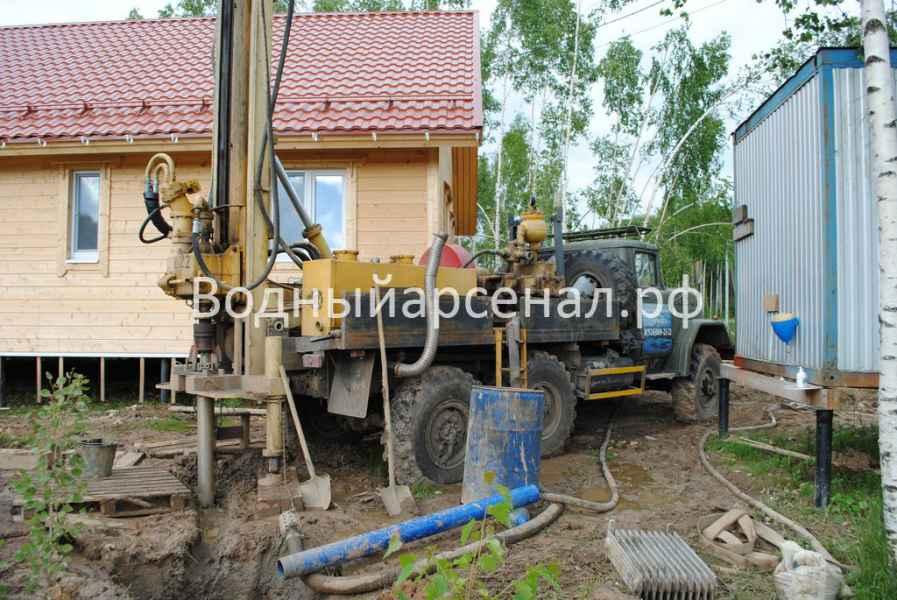 Бурение скважины в Сергиево-Посадском районе, деревня Путятино фото 2