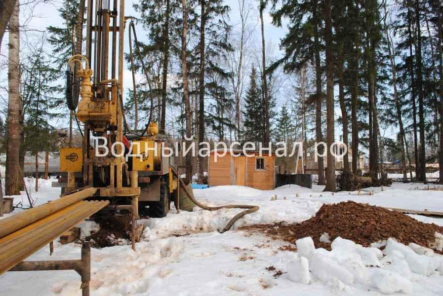 Бурение скважины в Солнечногорском районе, КП Кружева фото 4