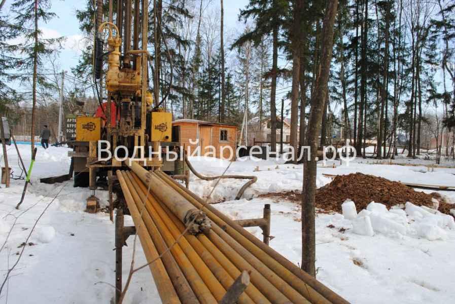 Бурение скважины в Солнечногорском районе, КП Кружева фото 3