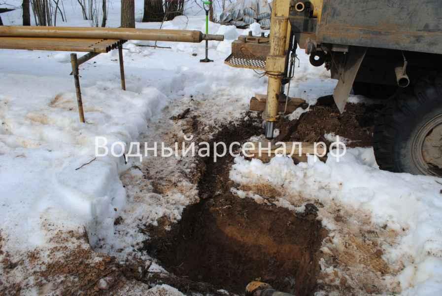 Бурение скважины в Солнечногорском районе, КП Кружева фото 2