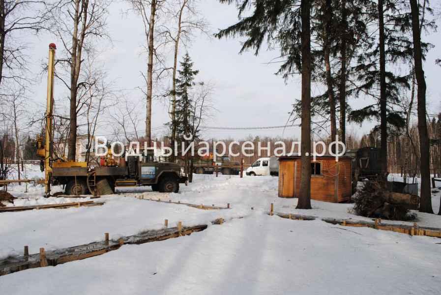 Бурение скважины в Солнечногорском районе, КП Кружева фото 1
