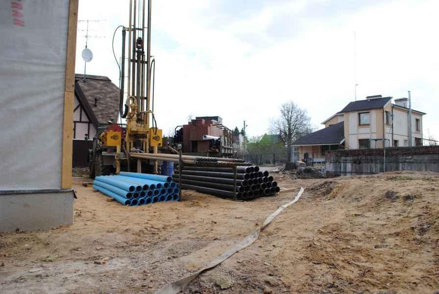Бурение скважины в Солнечногорском районе, деревня Логиново фото 1