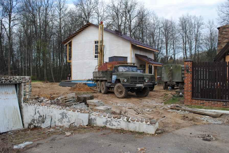 Бурение скважины в Солнечногорском районе, деревня Логиново фото 6