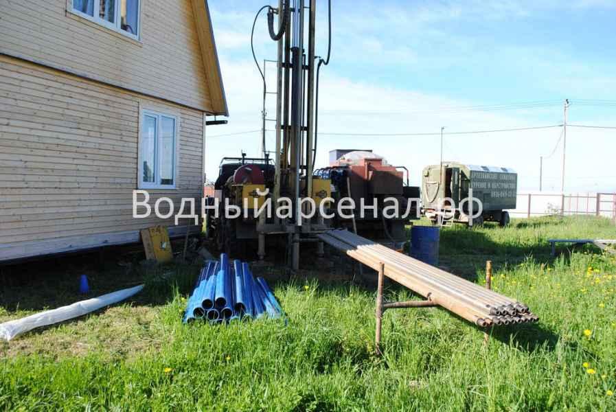 Бурение скважины в Сергиево-Посадском районе, ДНП Дивный фото 1