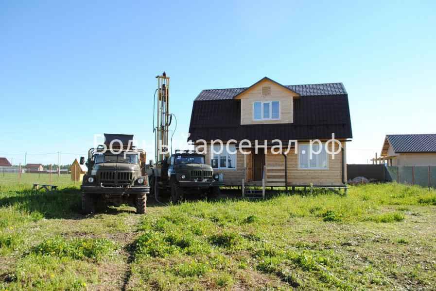Бурение скважины в Сергиево-Посадском районе, ДНП Дивный фото 3