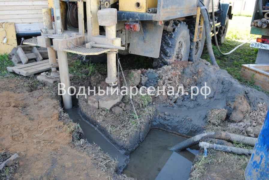 Бурение скважины в Сергиево-Посадском районе, ДНП Дивный фото 5