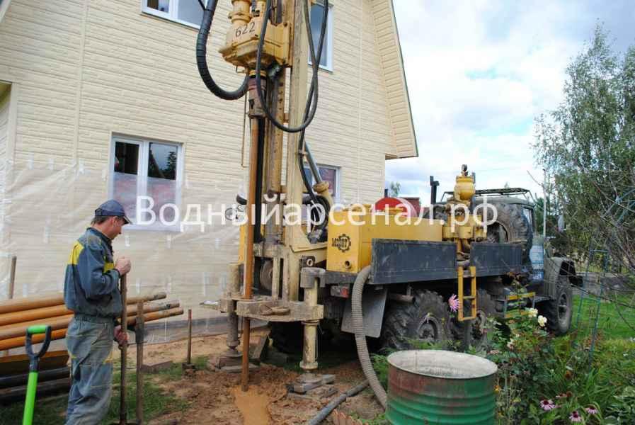Бурение скважины в Ступинском районе, СНТ Лопасня фото 1