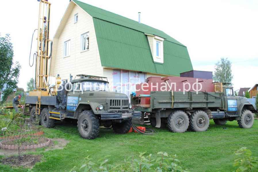 Бурение скважины в Ступинском районе, СНТ Лопасня фото 7