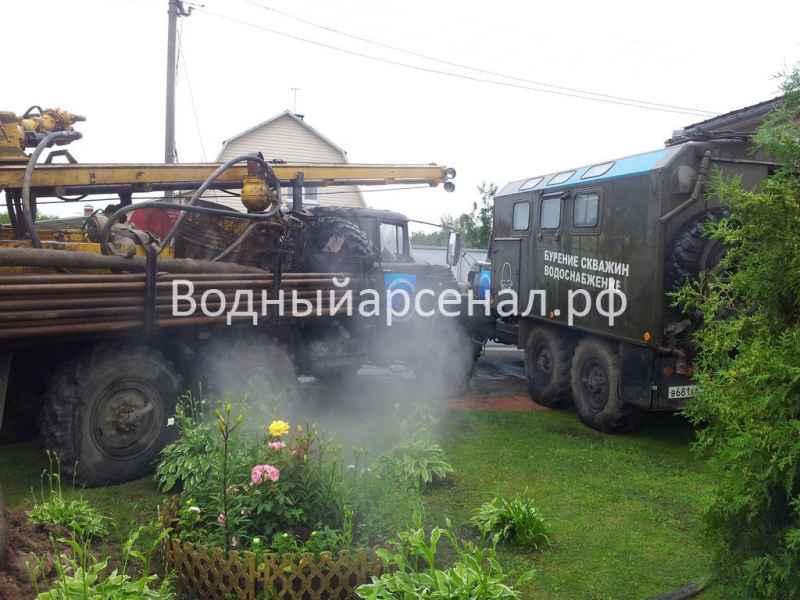 Бурение скважины в Мытищинском районе, деревня Крюково фото 3