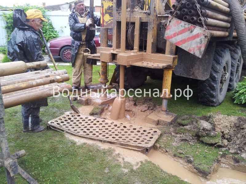 Бурение скважины в Мытищинском районе, деревня Крюково фото 1