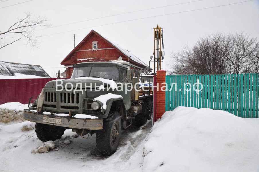 Бурение скважины в Истринскои районе, деревня Алехново фото 1