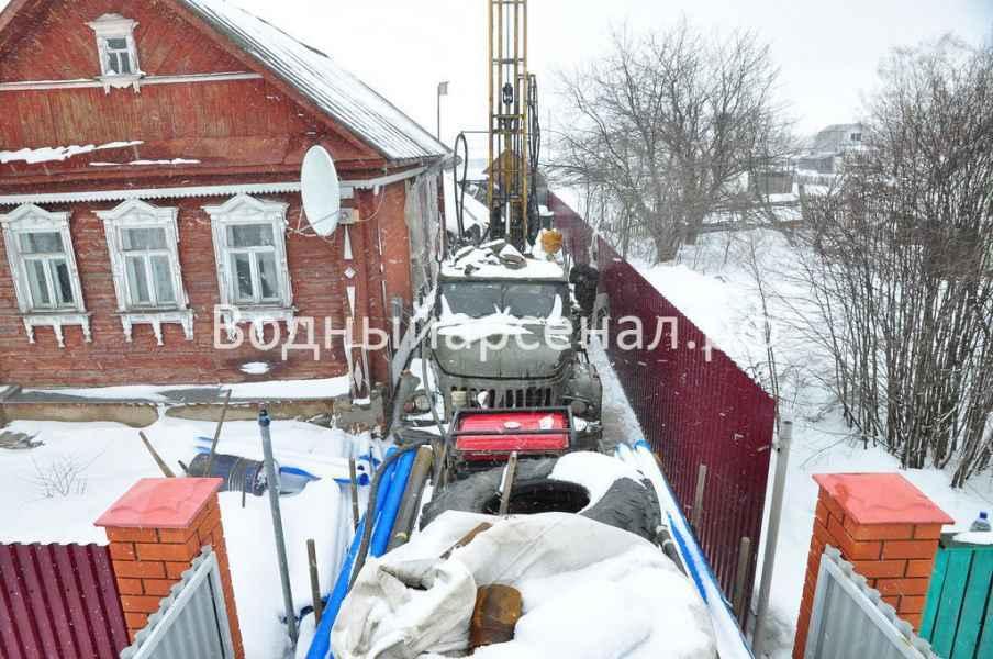 Бурение скважины в Истринскои районе, деревня Алехново фото 2