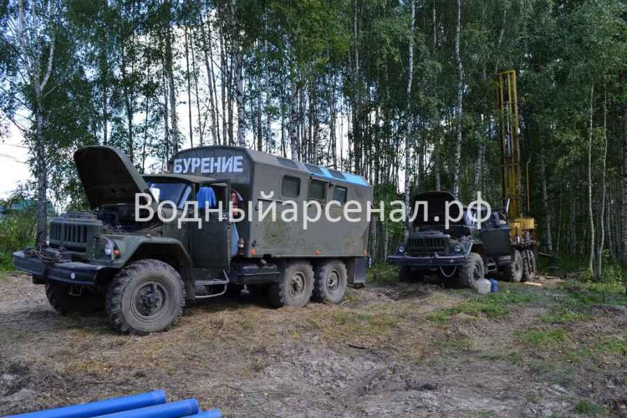 Бурение скважины в Рузском районе, деревня Ельники фото 1