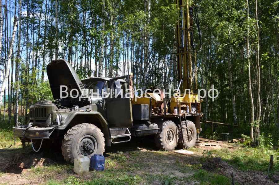 Бурение скважины в Рузском районе, деревня Ельники фото 3