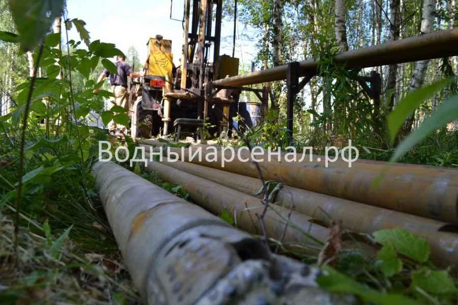 Бурение скважины в Рузском районе, деревня Ельники фото 4