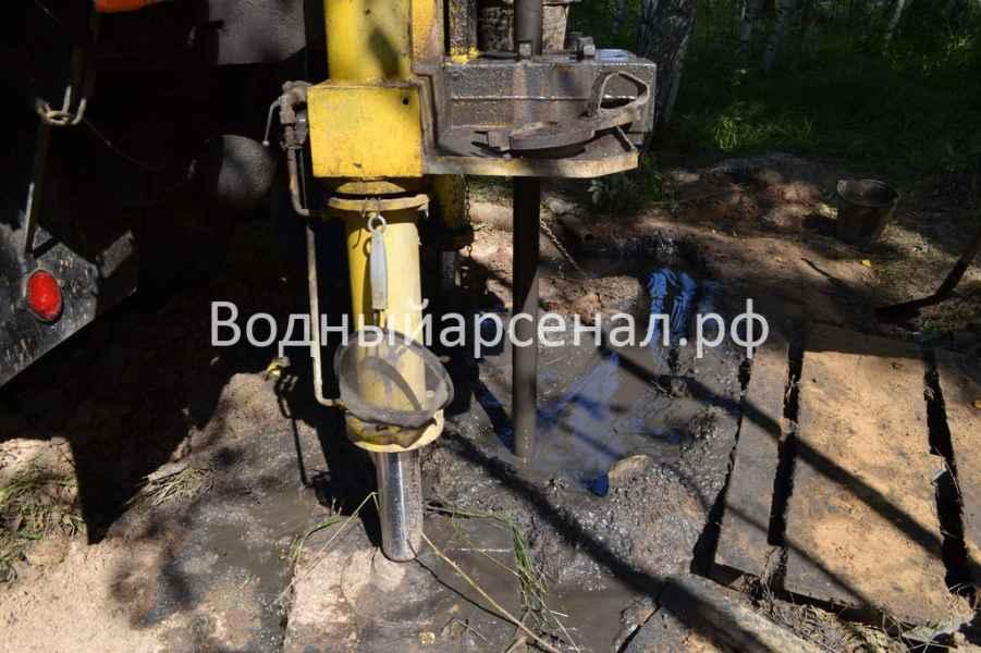 Бурение скважины в Рузском районе, деревня Ельники фото 5