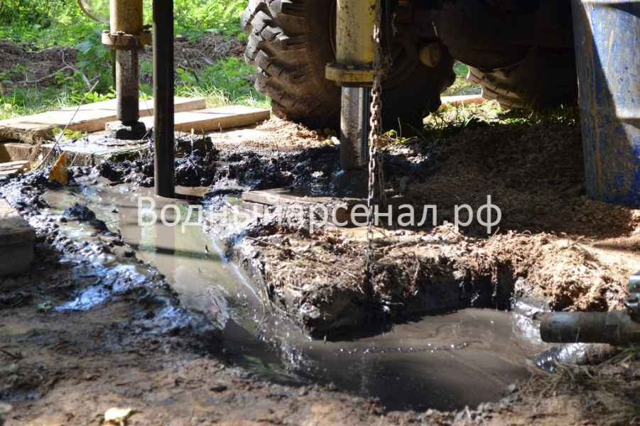 Бурение скважины в Рузском районе, деревня Ельники фото 6