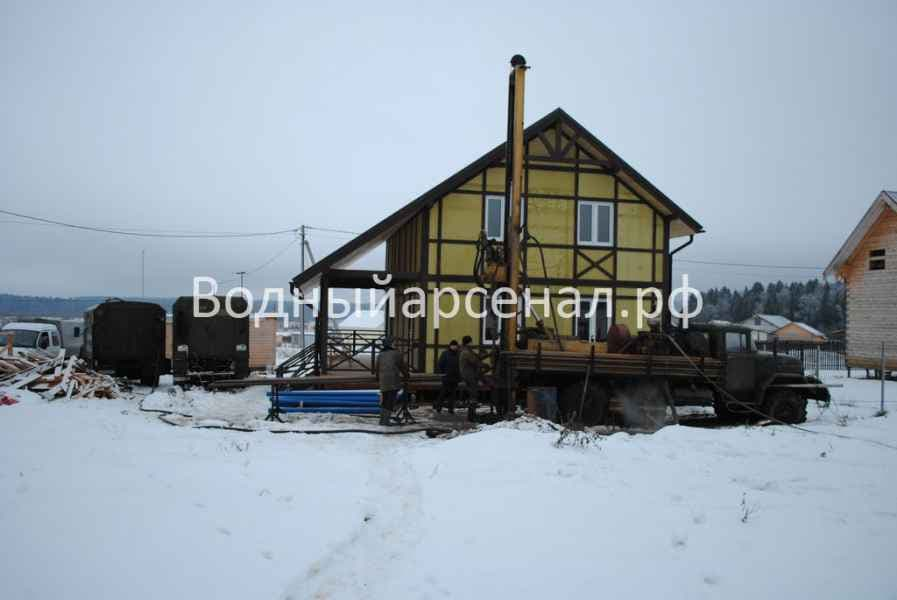 Бурение скважины в Солнечногорском районе, СНТ семейный фото 4
