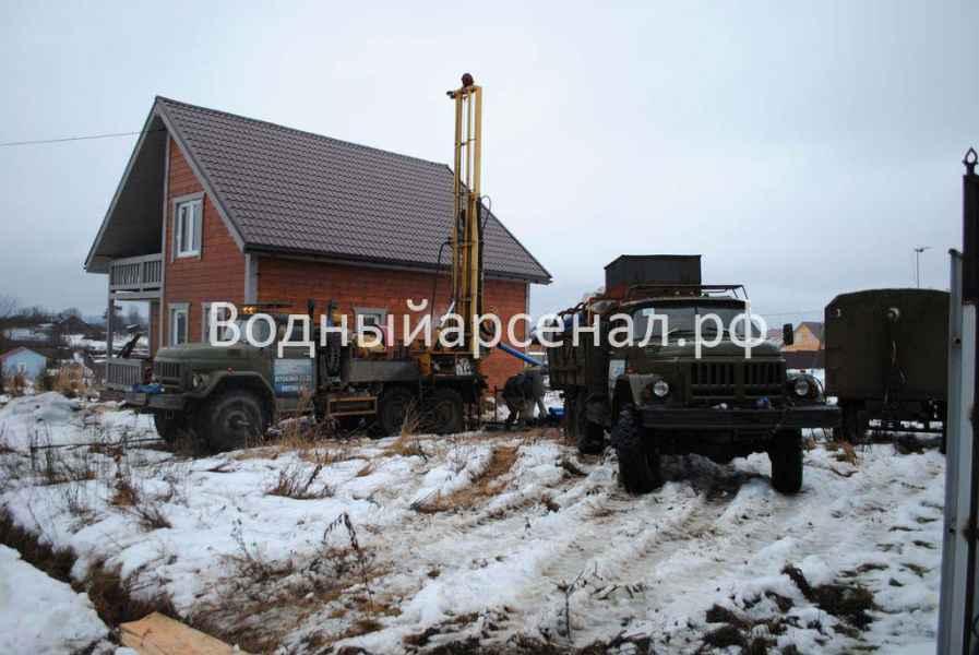 Бурение скважины в Истринском районе, КП Шишаиха фото 1