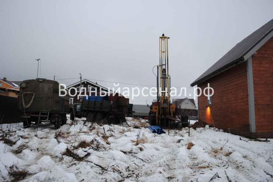 Бурение скважины в Истринском районе, КП Шишаиха фото 2