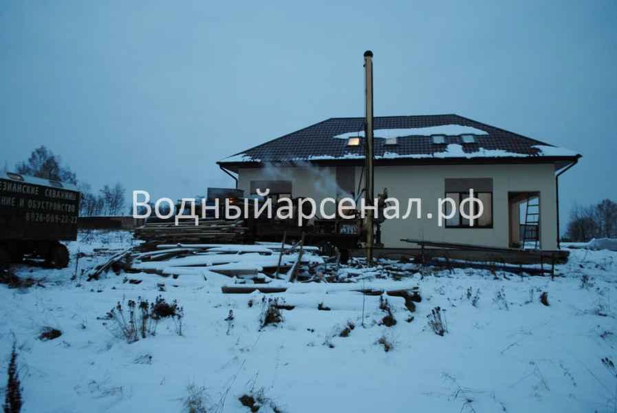 Бурение скважины в Истринском районе, Ленд Парк Куртниково фото 4
