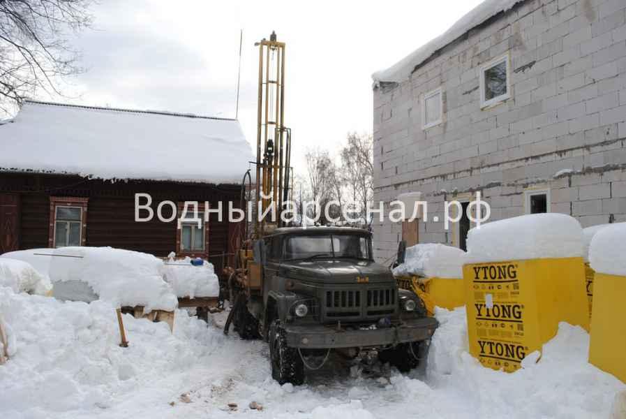 Бурение скважины в Одинцовском районе, поселок Баковка фото 1