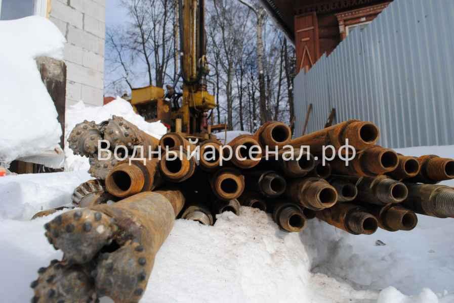 Бурение скважины в Одинцовском районе, поселок Баковка фото 2