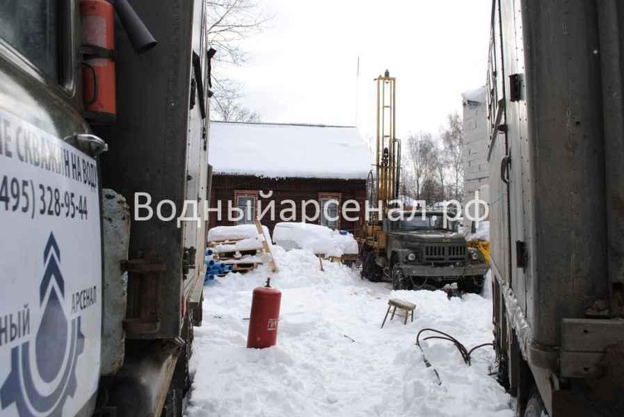 Бурение скважины в Одинцовском районе, поселок Баковка фото 4