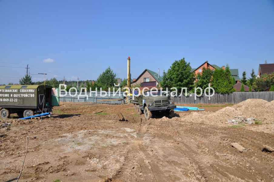Бурение скважины в Солнечногорском районе, деревня Юрлово фото 1