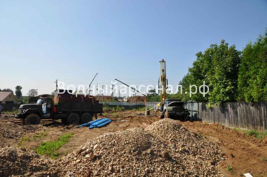 Бурение скважины в Солнечногорском районе, деревня Юрлово фото 6