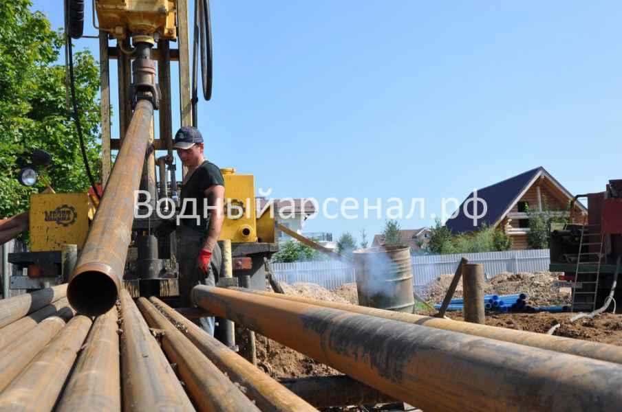 Бурение скважины в Солнечногорском районе, деревня Юрлово фото 3