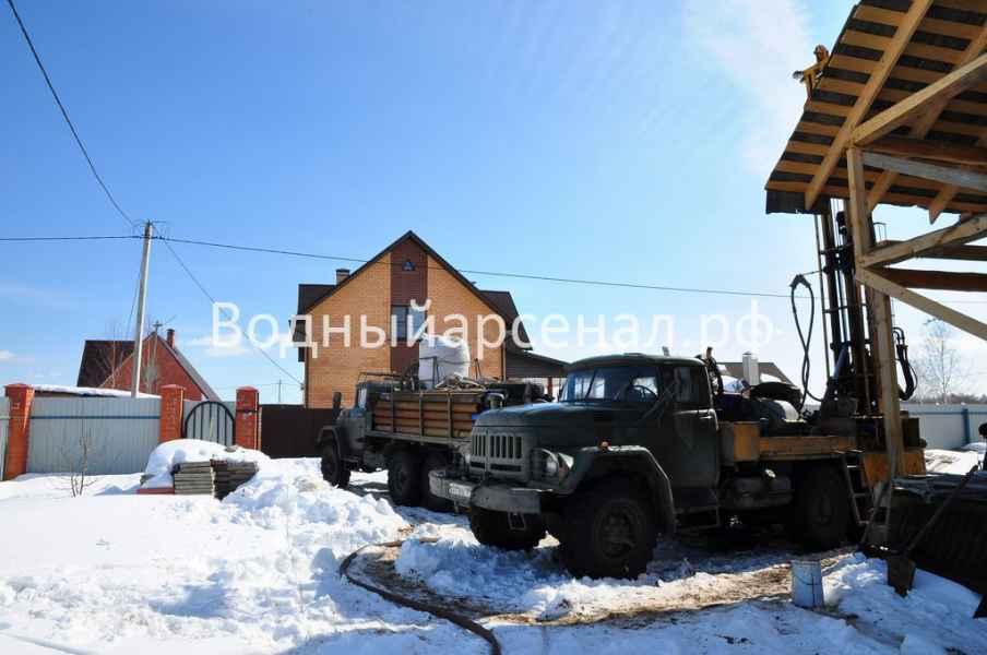Бурение скважины в Солнечногорском районе, Чашниково фото 2