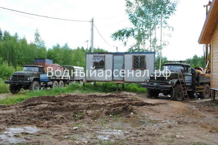 Фото бурения скважины на воду в Сергиево-посадском районе