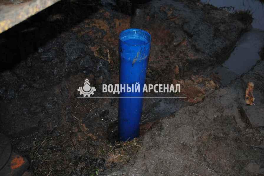 Фото бурения скважины на воду в Пушкинском район, деревня Алешино