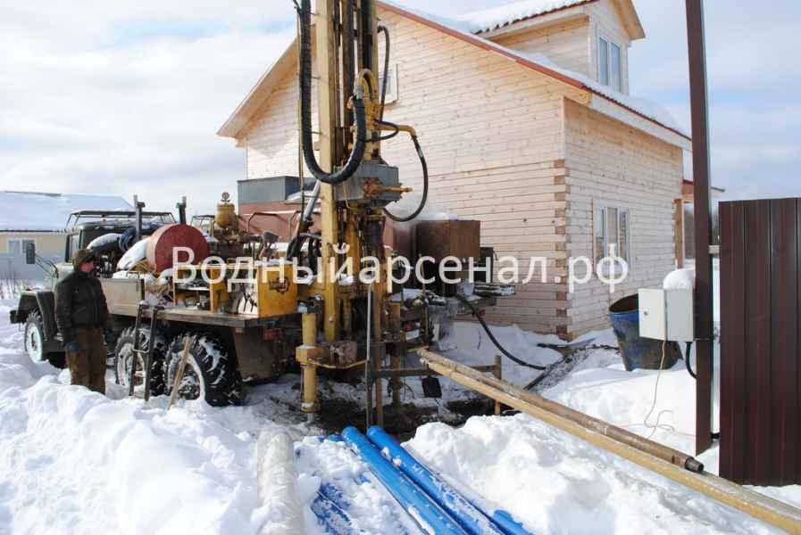 Фото бурения скважины на воду в Дмитровском районе, КП Дмитроград