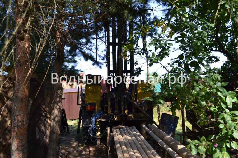 Фото бурения скважины на воду в Раменском район, деревня Осеченки
