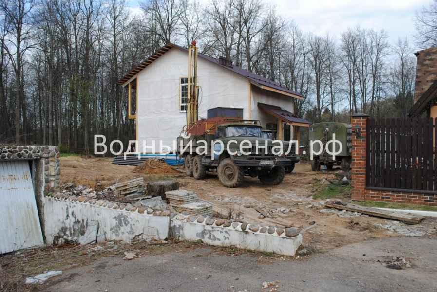 Фото бурения скважины на воду в Солнечногорском районе